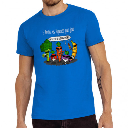 Tee-shirt homme 5 fruits et...