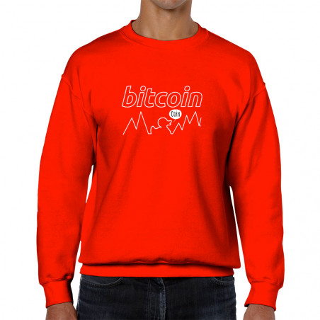 Sweat homme col rond Bitcoin