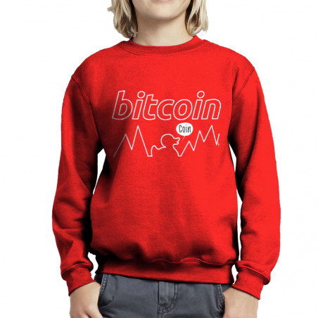 Sweat enfant col rond Bitcoin