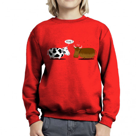 Sweat enfant col rond Viking