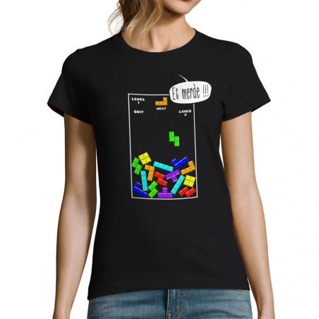 T-shirt femme Tetris Et Merde