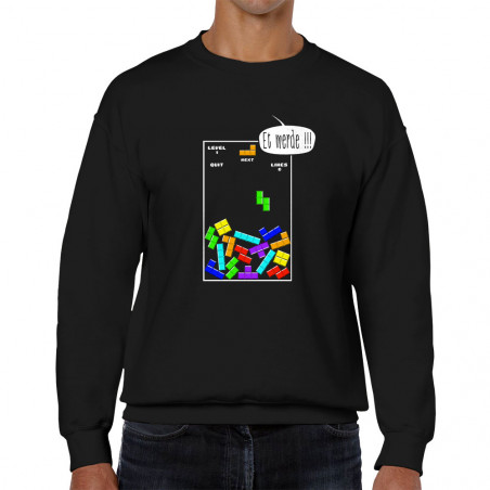 Sweat homme col rond Tetris...