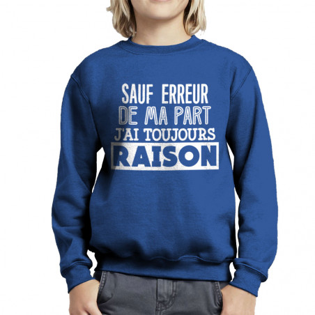 Sweat enfant col rond J'ai...