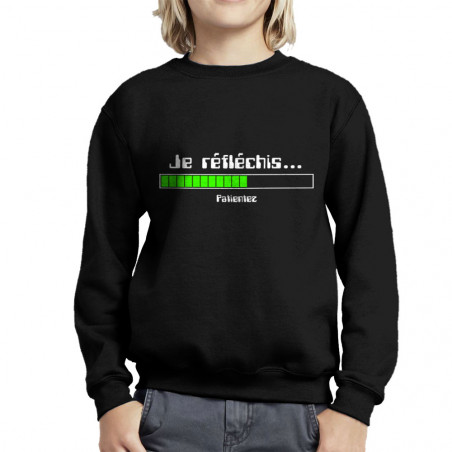 Sweat enfant col rond Je...