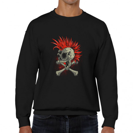 Sweat homme col rond Iroskull