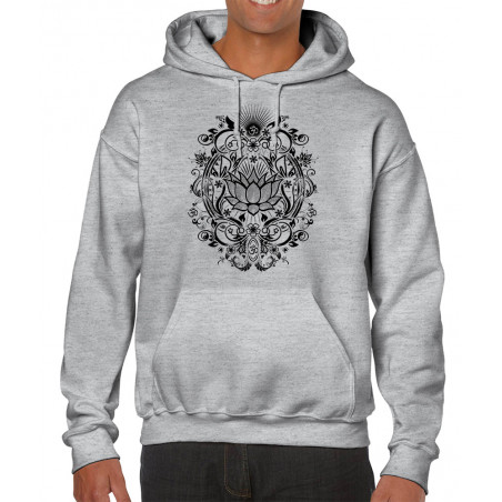 Sweat homme à capuche Lotus...