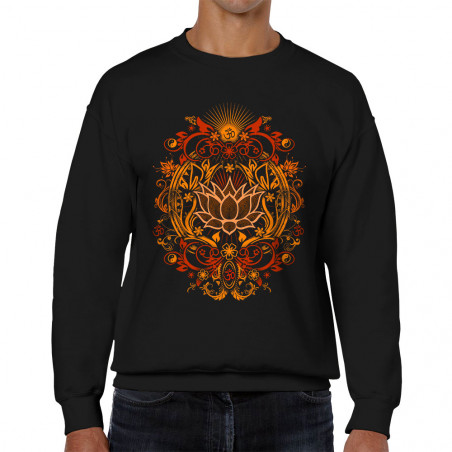 Sweat homme col rond Lotus...