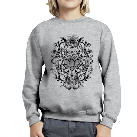 Sweat enfant col rond Lotus...