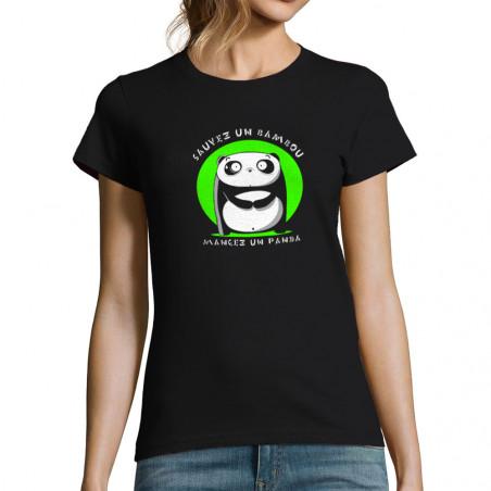 T-shirt femme Sauvez un bambou
