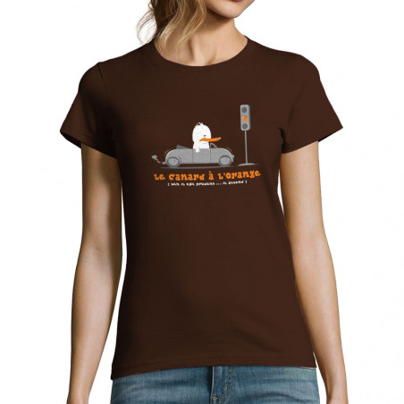 """T-shirt femme """"Le Canard à..."""