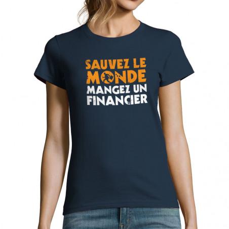 T-shirt femme Sauvez le monde