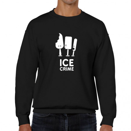 Sweat homme col rond Ice Crime