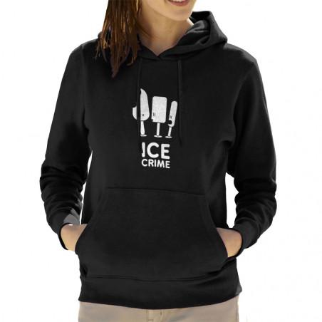 Sweat femme à capuche Ice...