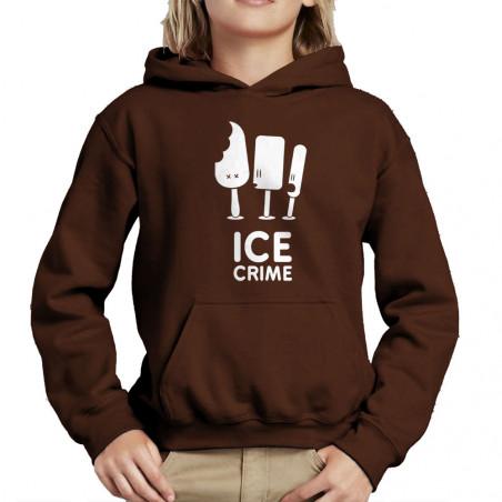 Sweat enfant à capuche Ice...