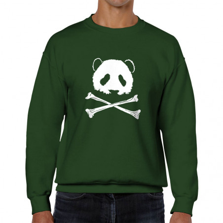 Sweat homme col rond Panda...