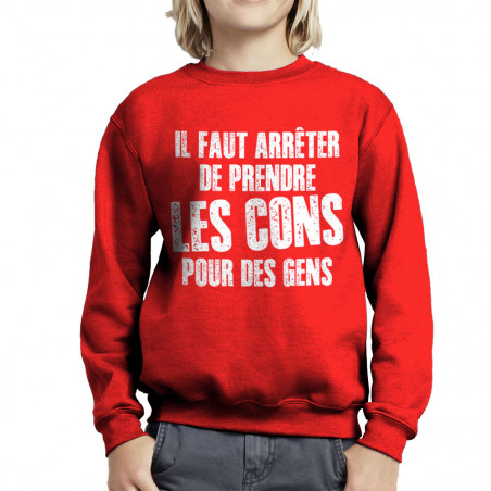 Sweat enfant col rond Il...