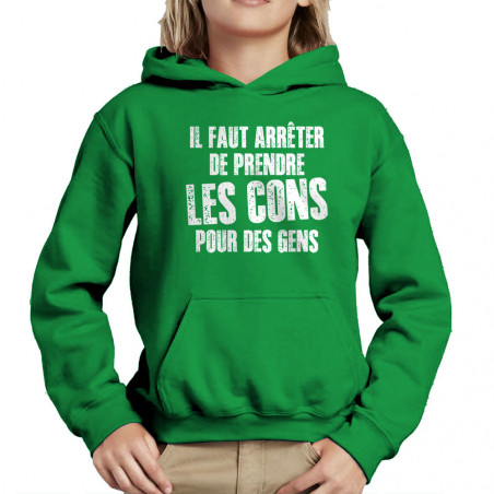 Sweat enfant à capuche Il...