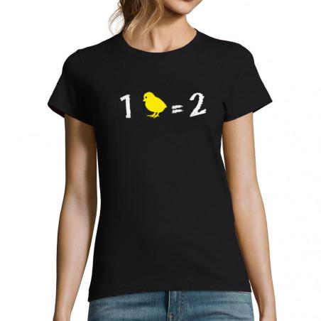 T-shirt femme 1 poussin...