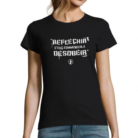 T-shirt femme Réfléchir...