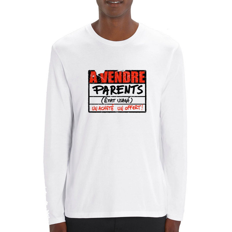 T-shirt homme manches longues coton bio A