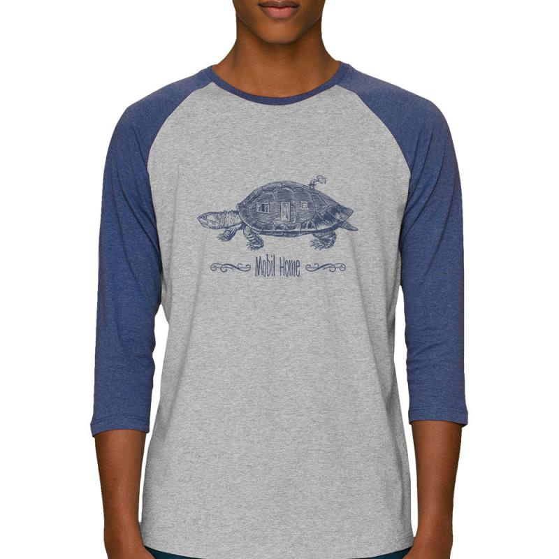 Mobil Bi Coton Longues Color Homme Home Manches Tee Shirt Bio Raglan TcKlFJ1