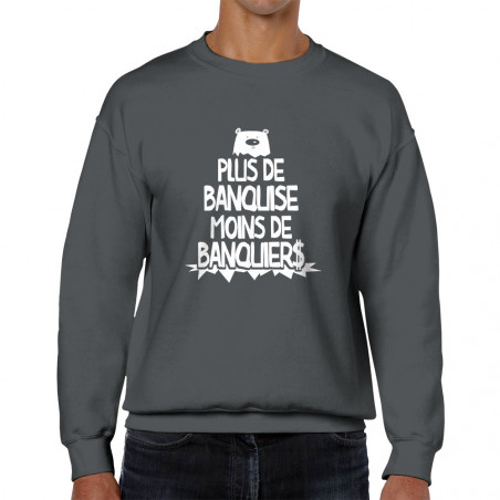 Sweat homme col rond Plus...