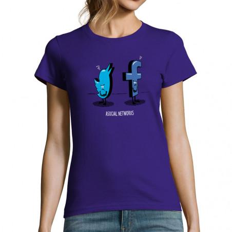 T-shirt femme Asocial Networks