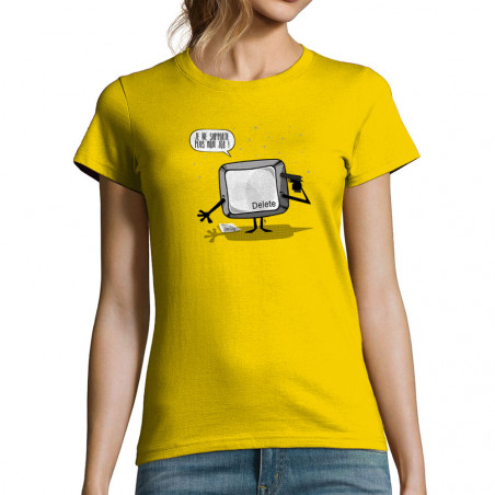 T-shirt femme Delete