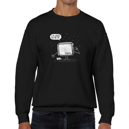 Sweat homme col rond Delete