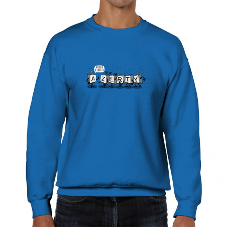 Sweat homme col rond Azerty
