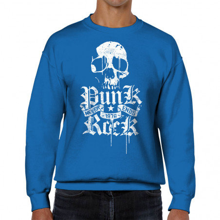 Sweat homme col rond Punk...