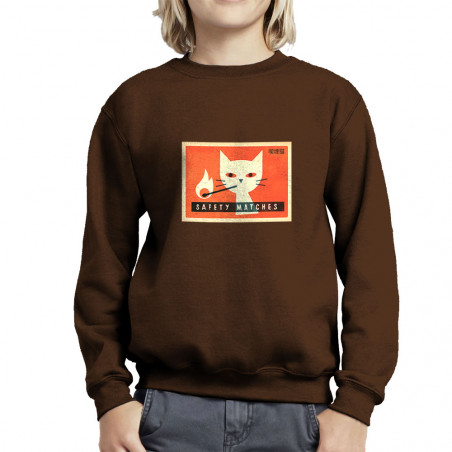 Sweat enfant col rond Cat...