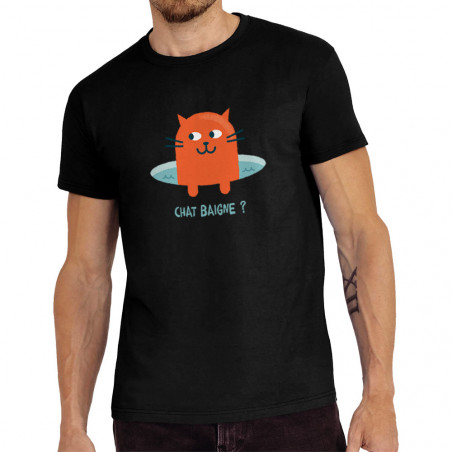 Tee-shirt homme Chat baigne ?