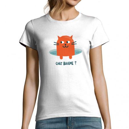 T-shirt femme Chat baigne ?