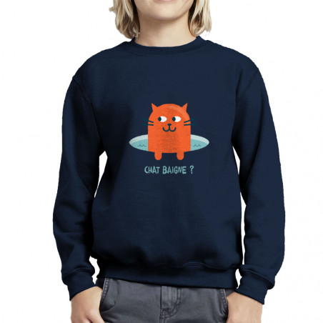 Sweat enfant col rond Chat...