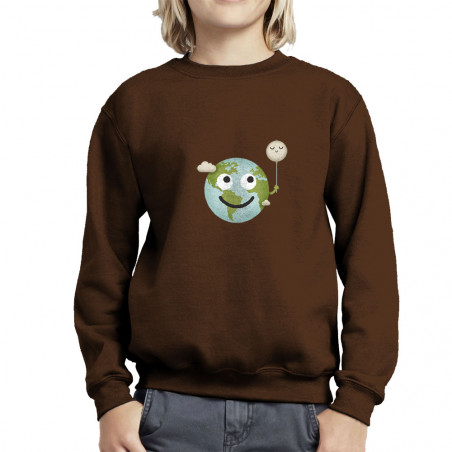 Sweat enfant col rond Earth