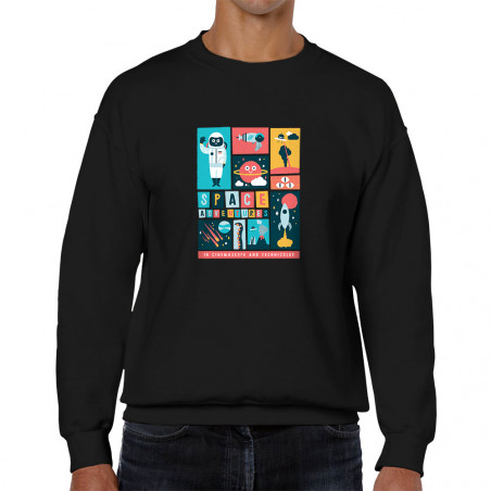 Sweat homme col rond Space...