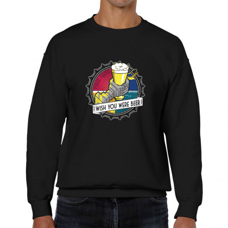 Sweat homme col rond Pinte...