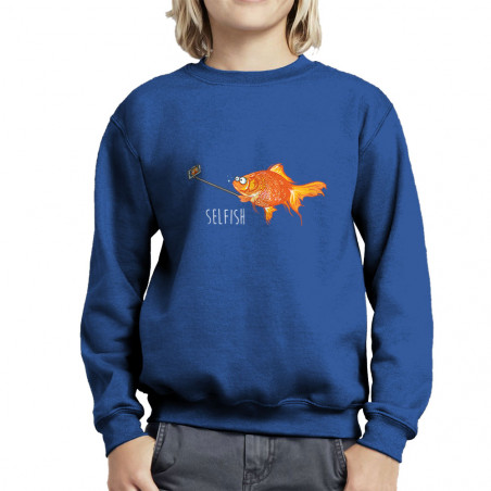 Sweat enfant col rond Selfish