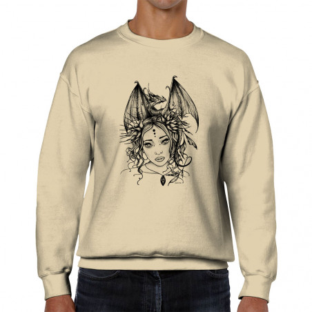Sweat homme col rond Dragon...
