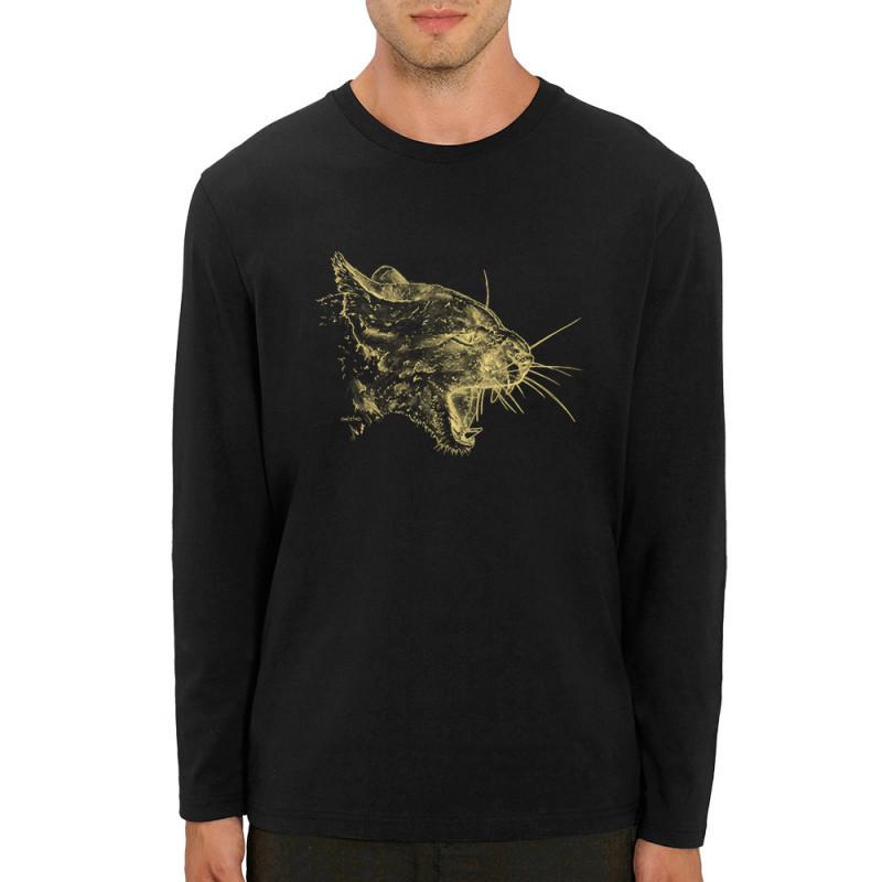 T shirt homme manches longues coton bio Puma