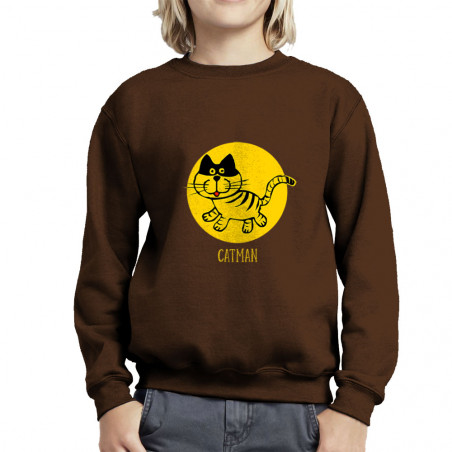 Sweat enfant col rond Catman