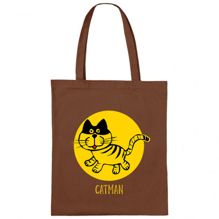 Sac shopping en toile Catman