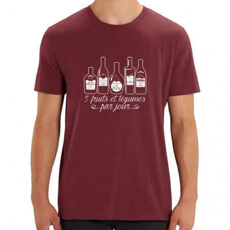 Tee-shirt homme coton bio 5...