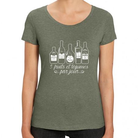 Tee-shirt femme coton bio 5...