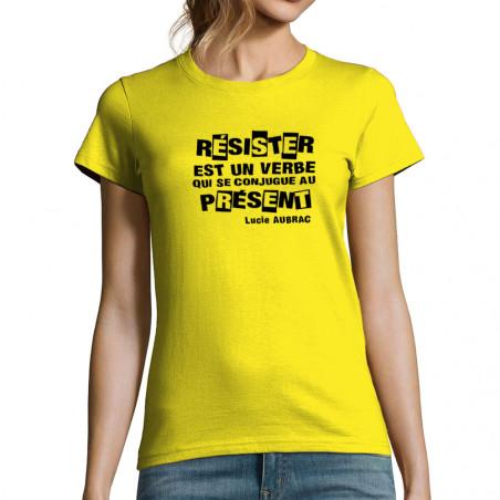T-shirt femme Résister est...