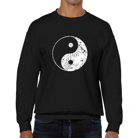 Sweat homme col rond Ying Yang