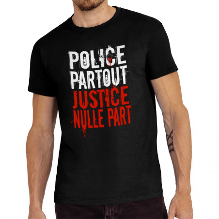 Tee-shirt homme Police Partout