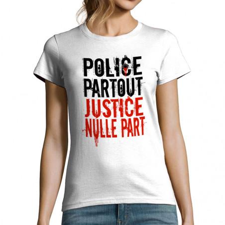 T-shirt femme Police Partout