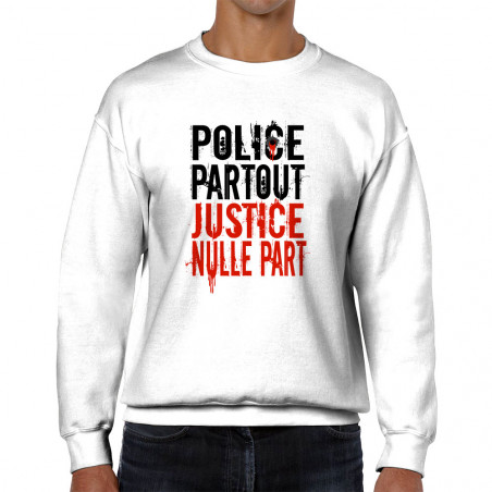 Sweat homme col rond Police...